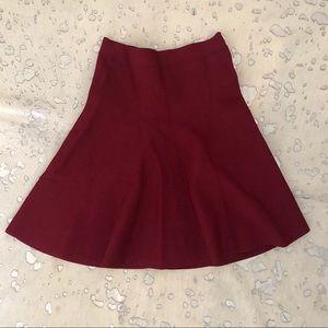 BCBGMAXAZRIA Cranberry A-Line Skirt